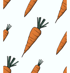 Carrot pattern carrot organic food vector