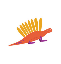 cartoon badinosaur or cute dragon flat vector image