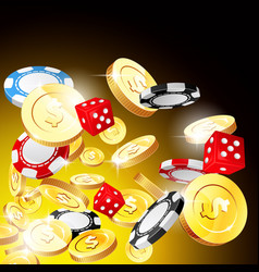 casino and jackpot background - gambling chips vector image