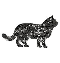 cat gray vector image vector image