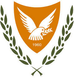 Coat of arms of cyprus vector