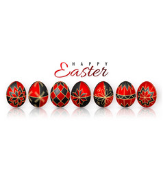 Color easter egg on white background red vector