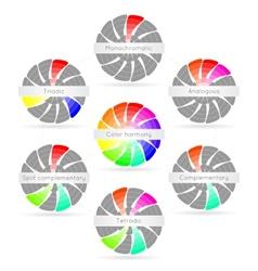 Color harmony combinations vector