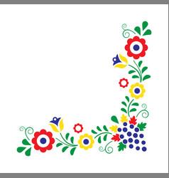 Colorful folklore ornament vector