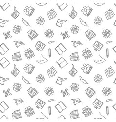 copywriting and blogging seamless pattern vector image