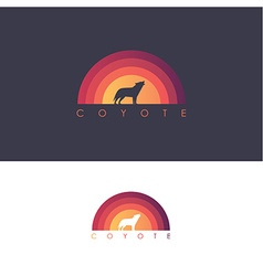 Coyote howling icon vector