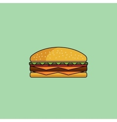 Cute icon cheeseburger vector image