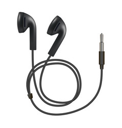 earphones icon realistic style vector image