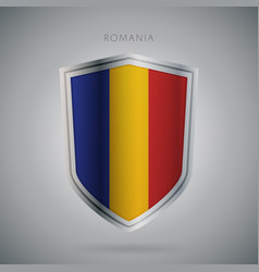 Europe flags series romania modern icon vector