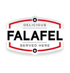 falafel vintage sign label vector image