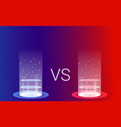 Fantasy portals duel and fight concept vector