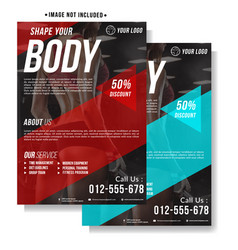 Fitness gym flyer template vector