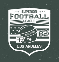 football summer camp league t-shirt print vector image
