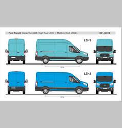 Ford transit cargo van l3h2 and l3h3 2014-present vector