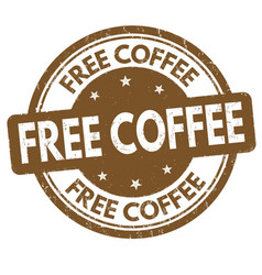Free coffee sign or stamp vector
