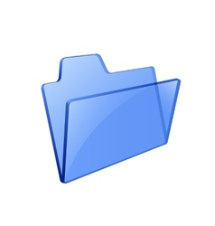 Glass glossy folder vector