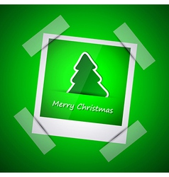 Green picture of merry christmas vector