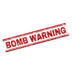 Grunge textured bomb warning stamp seal vector