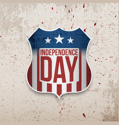 Happy independence day united states of america vector