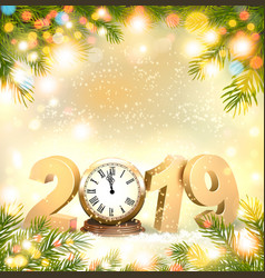 Happy new year 2019 background with presents and vector