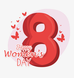 happy womens day card vector image