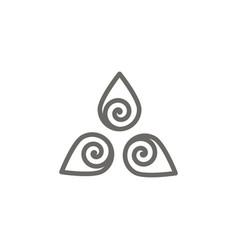 harmony symbol icon spiritual concept vector image