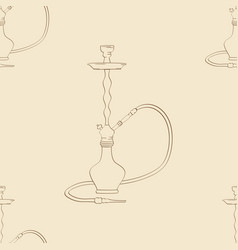 hookah on a vintage background seamless vector image