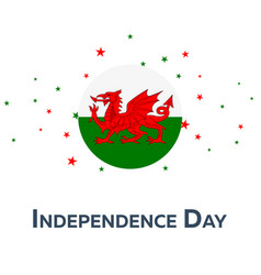 Independence day of wales patriotic banner vector