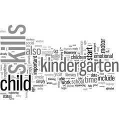 Is your child ready for kindergarten vector