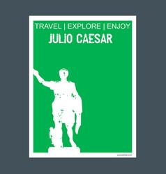 Julio caesar monument landmark brochure flat vector