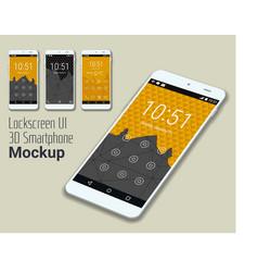 Lockscreen mobile UI smartphone mockup vector