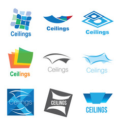 Logos of ceilings floors vector