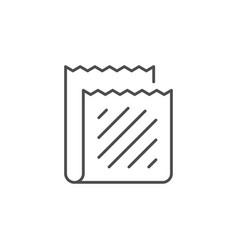 Micro fiber line outline icon vector