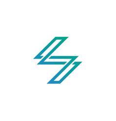 modern letter s symbol logo design template vector image