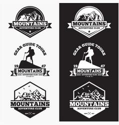 Mountains logo badge 5 vector