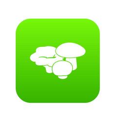 mushrooms icon green vector image