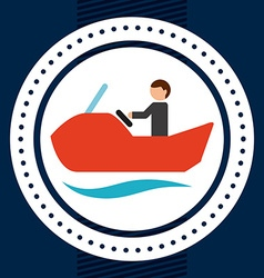 nautical sport vector image
