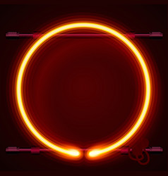 neon frame sign in the shape of a circle vector image vector image