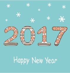 New Year 2017 decoration vector image