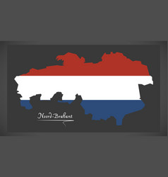 noord-brabant netherlands map vector image