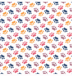 paw pattern animal imprint on a white vector image