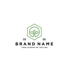 People care natural plants logo design vector