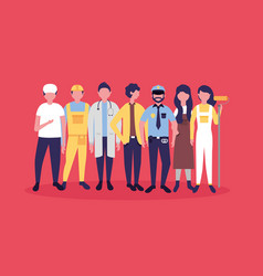 people labor day vector image