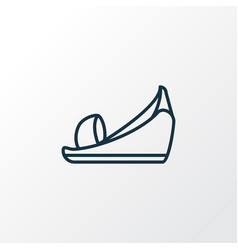 platform shoes icon line symbol premium quality vector image