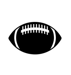 rugby ball icon in simple style on a white vector image