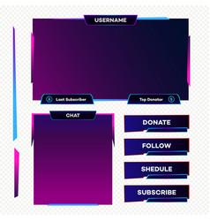 Screen panel overlay game neon theme vector