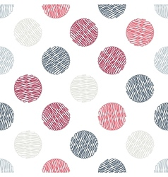 Seamless pattern Polka dot texture in doodle style vector image