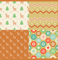 seamless pattern wallpaper christmas vector image