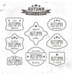 set autumn sales related vintage labels vector image