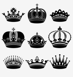 Set nine crown vector
